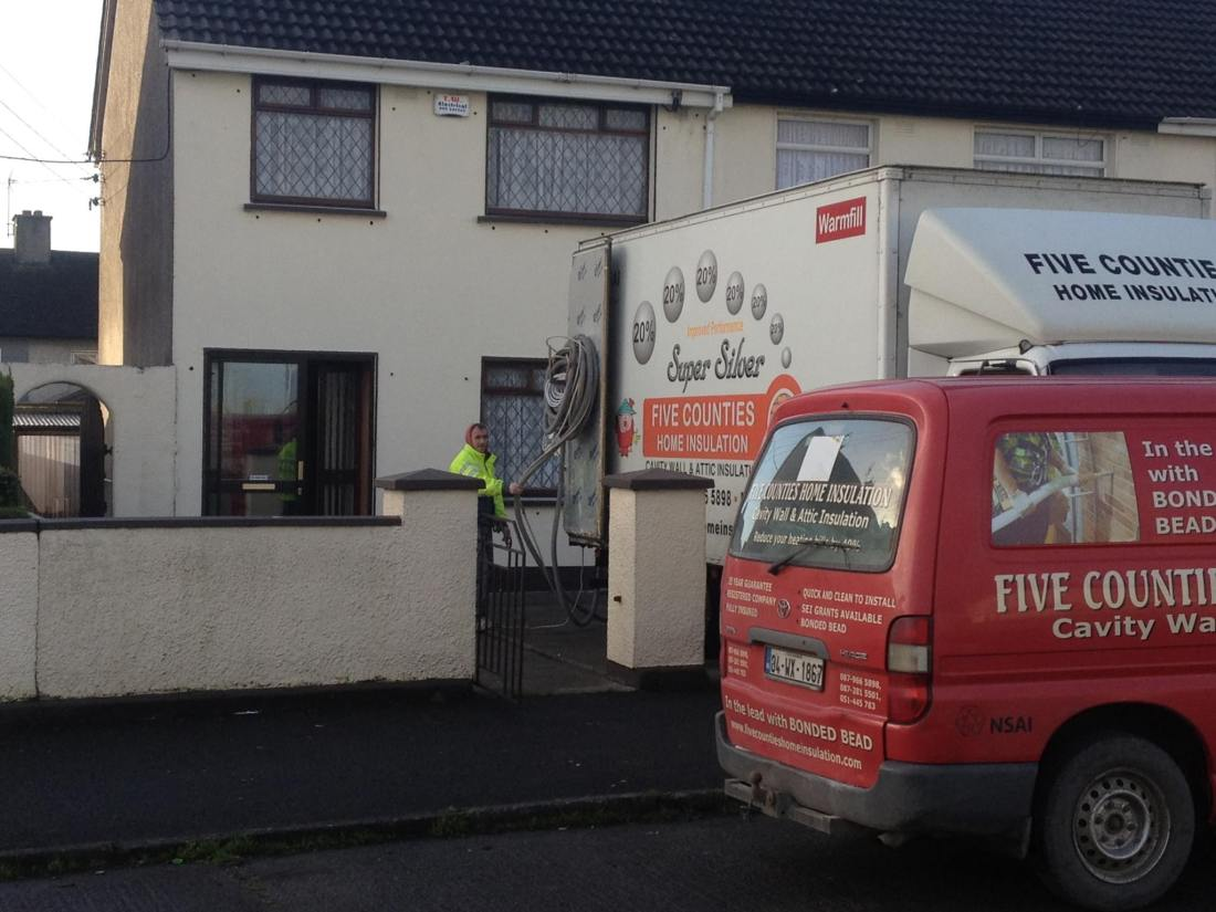 Cavity wall insulation in Kildare Town, Co. Kildare