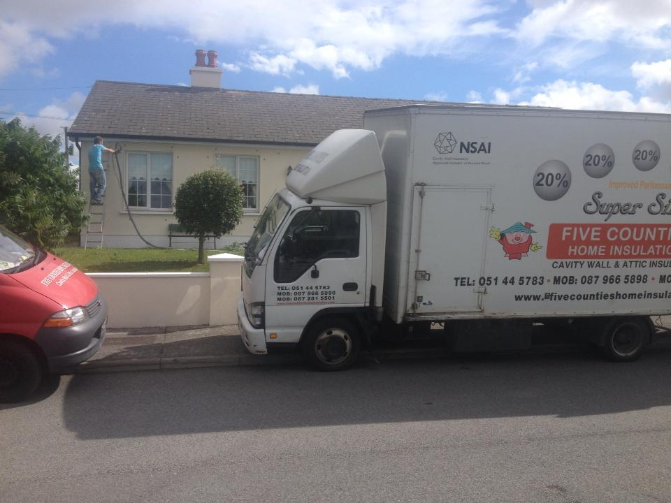 Cavity wall insulation in Gorn, Co. Kilkenny