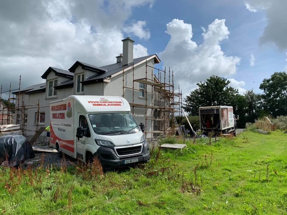 Cavity wall and attic on Spray Foam insulation - Mooncon, County Kilkenny