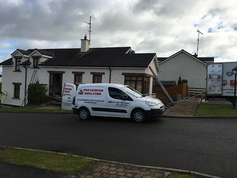 Attic Insulation and Cavity Wall Insulation in Morriscastle Village, Kilmuckridge, Co. Wexford