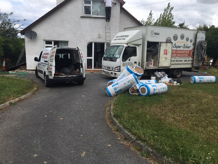 Cavity wall and attic insulation Wicklow