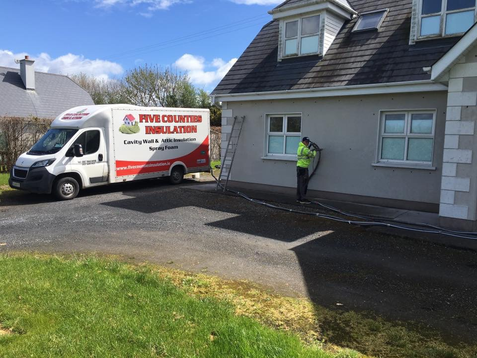 Cavity wall and spray form insulation Carlow