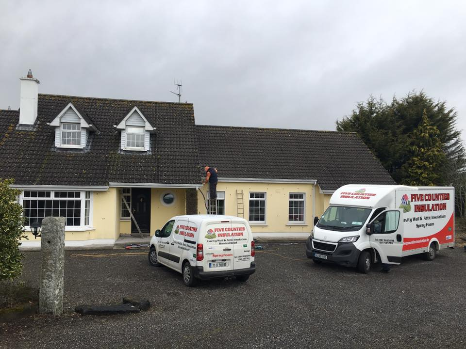 Spray Foam insulation - Carlow Town Park