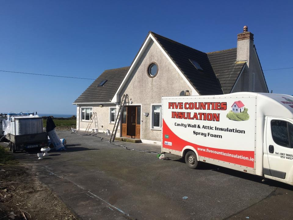 Cavity wall and attic insulation Tramore County Waterford